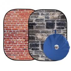 LL LB5711. Urban Collapsible 1.5 x 2.1m Red Brick/Grey Stone