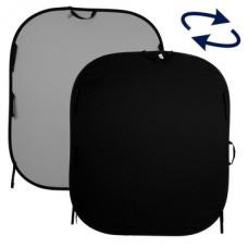 LL LB56GB. Plain Collapsible 1.5 x 1.8m Black/Mid Grey