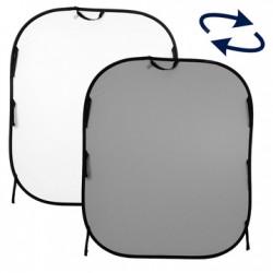 LL LB56GW. Plain Collapsible 1.5 x 1.8m White/Mid Grey