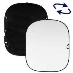 LL LB5921. Plain Collapsible Reversible 1.8 x 2.1m Black/White